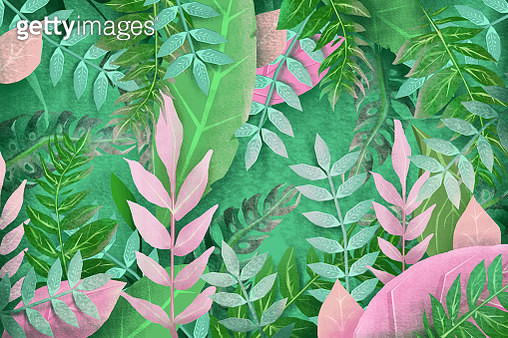3D tropical floral background - gettyimageskorea
