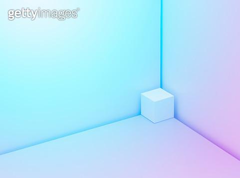 Cube in a corner - gettyimageskorea