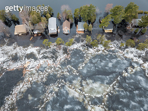The flooding of the Saint John River in 2019 marks the second consecutive year of major flooding. Both the floods of 2018 and 2019 would normally be considered '50 year flood levels'. It is feared these amounts will become more commonplace. - gettyimageskorea
