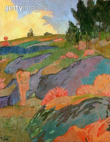 <b>Title</b> : Breton Eve or, Melancholy, c.1890 (oil on canvas)<br><b>Medium</b> : oil on canvas<br><b>Location</b> : Musee d'Orsay, Paris, France<br> - gettyimageskorea