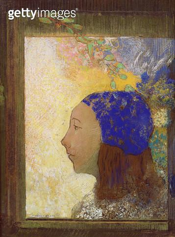 <b>Title</b> : Young Girl in a Blue Bonnet, after 1890 (pastel on paper)Additional InfoJeune Fille au Bonnet Bleu;<br><b>Medium</b> : pastel on paper<br><b>Location</b> : Musee d'Orsay, Paris, France<br> - gettyimageskorea