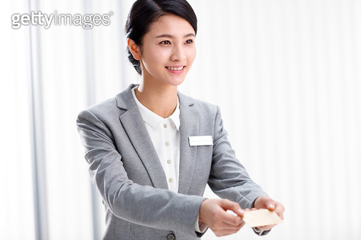 The personnel of the service delivery business card - gettyimageskorea