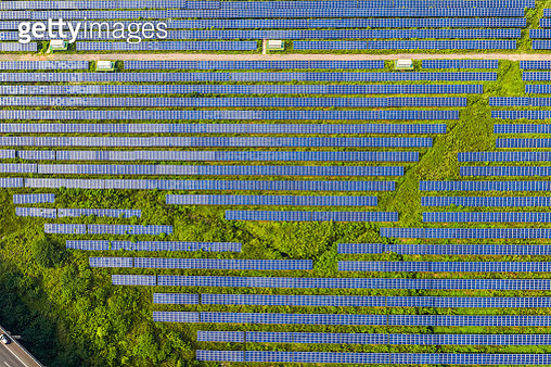 aerial view of solar power station,Huzhou,Zhejiang,China - gettyimageskorea