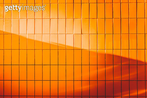 Full Frame Shot Of Orange Wall - gettyimageskorea