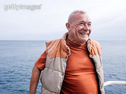 Seaside portrait of old man - gettyimageskorea