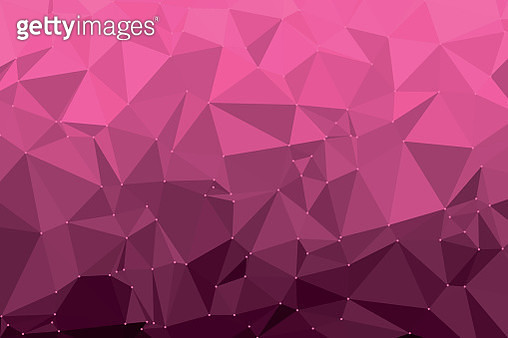Hot Pink Triangle Polygon Pattern - gettyimageskorea