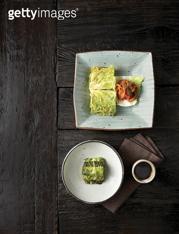 배추와 무를 이용한 음식,배추전보쌈,숭채만두,한국음식 - gettyimageskorea