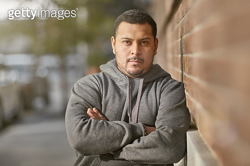 Portrait of athlete with arms crossed after workout - gettyimageskorea