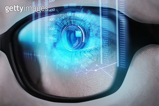 Human eye test with technology - gettyimageskorea