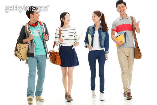 Young college students are chatting - gettyimageskorea