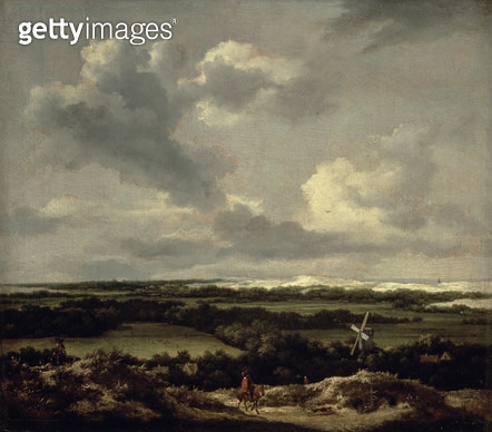<b>Title</b> : Landscape with Dunes near Haarlem (oil on canvas)<br><b>Medium</b> : <br><b>Location</b> : Frans Hals Museum, Haarlem, The Netherlands<br> - gettyimageskorea