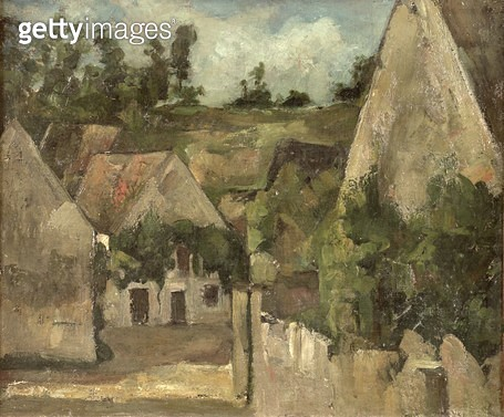 <b>Title</b> : Crossroads at the Rue Remy, Auvers, c.1872 (oil on canvas)Additional InfoCarrefour de la rue Remy a Auvers;<br><b>Medium</b> : oil on canvas<br><b>Location</b> : Musee d'Orsay, Paris, France<br> - gettyimageskorea