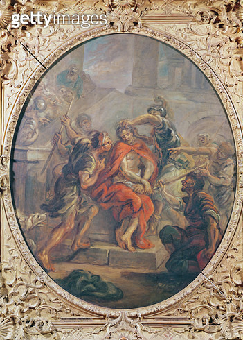 <b>Title</b> : The Mocking of Christ (oil on canvas)<br><b>Medium</b> : <br><b>Location</b> : Musee des Beaux-Arts, Strasbourg, France<br> - gettyimageskorea