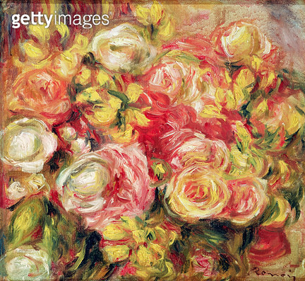 <b>Title</b> : Roses, 1915 (oil on canvas)<br><b>Medium</b> : oil on canvas<br><b>Location</b> : Musee des Beaux-Arts et d'Archeologie, Besancon, France<br> - gettyimageskorea