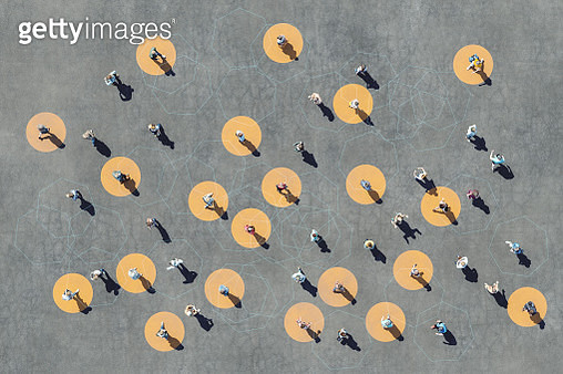 People interaction abstract image - gettyimageskorea