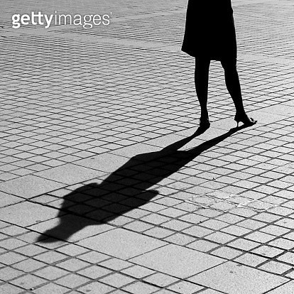 Woman shadow - gettyimageskorea