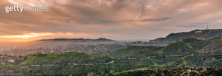 Hollywood Hills From Griffith Observatory - gettyimageskorea