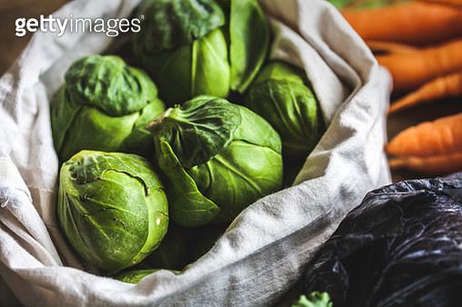 Brussels Sprouts and Vegetables from the Market - gettyimageskorea