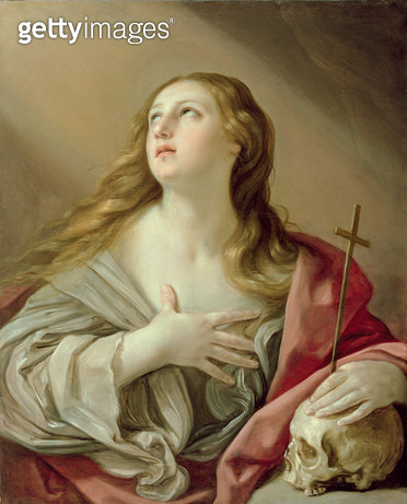 <b>Title</b> : The Penitent Magdalene, c.1638 (oil on canvas)<br><b>Medium</b> : oil on canvas<br><b>Location</b> : Walters Art Museum, Baltimore, USA<br> - gettyimageskorea