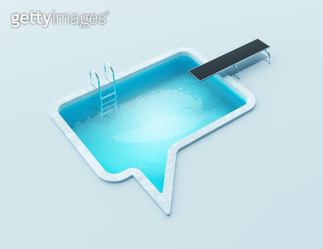 Swimming pool in the shape of a speech bubble - gettyimageskorea