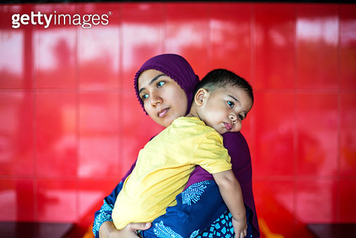Mother Hug Baby Son - gettyimageskorea