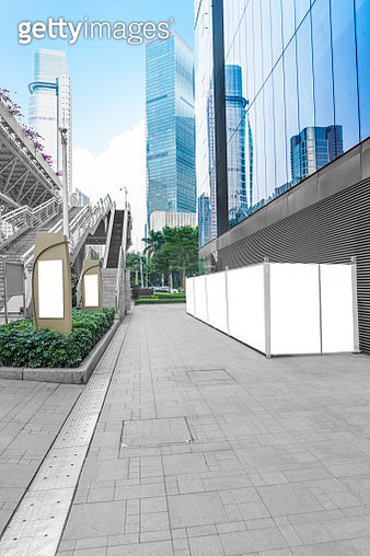 urban square with blank billboards,Guangzhou - gettyimageskorea