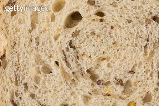 Wheat bread with sunflower seeds close up photo - gettyimageskorea