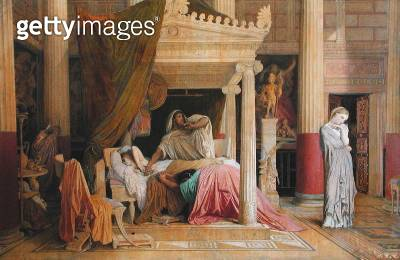 <b>Title</b> : Antiochus and Stratonice, 1840 (oil on canvas)Additional Infola Maladie d'Antoichus (c.323-261 BC); son of Seleucus I Nicator; f<br><b>Medium</b> : oil on canvas<br><b>Location</b> : Musee Fabre, Montpellier, France<br> - gettyimageskorea