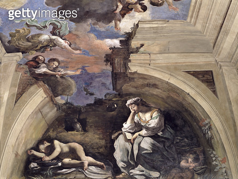 <b>Title</b> : The 'Sala di Aurora' (Hall of the Dawn) detail of an Allegory of Night, 1621 (tempera on panel)<br><b>Medium</b> : <br><b>Location</b> : Casino dell'Aurora Ludovisi, Rome, Italy<br> - gettyimageskorea