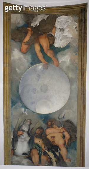 <b>Title</b> : Allegory of the Elements, the Universe and Signs of the Zodiac, 1597 (oil on plaster) (for detail see 107110)<br><b>Medium</b> : <br><b>Location</b> : Casino dell'Aurora Ludovisi, Rome, Italy<br> - gettyimageskorea