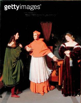 <b>Title</b> : The Betrothal of Raphael and the Niece of Cardinal Bibbiena, 1813 (oil on paper mounted on canvas)Additional Infoshe died before<br><b>Medium</b> : oil on paper mounted on canvas<br><b>Location</b> : Walters Art Museum, Baltimore, USA<br> - gettyimageskorea