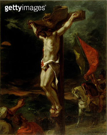 <b>Title</b> : Christ on the Cross, 1846 (oil on canvas)<br><b>Medium</b> : oil on canvas<br><b>Location</b> : Walters Art Museum, Baltimore, USA<br> - gettyimageskorea