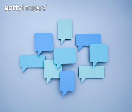 Various speech bubbles (paper cutouts) - gettyimageskorea