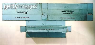 <b>Title</b> : Volon, 1971 (cardboard & plywood)<br><b>Medium</b> : cardboard and plywood<br><b>Location</b> : Private Collection<br> - gettyimageskorea