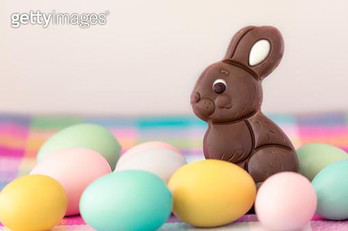 Chocolate Easter bunny - gettyimageskorea
