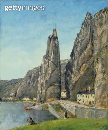 <b>Title</b> : The Rock at Bayard, Dinant, Belgium, c.1856 (oil on canvas)Additional InfoLa Roche a Bayard;<br><b>Medium</b> : oil on canvas<br><b>Location</b> : Fitzwilliam Museum, University of Cambridge, UK<br> - gettyimageskorea