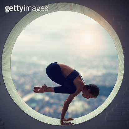 young woman doing yoga - gettyimageskorea