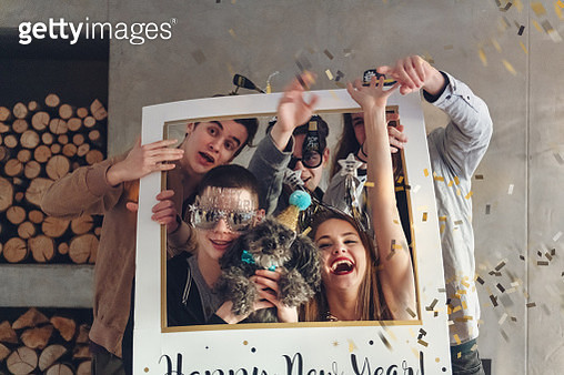 Group of teenagers having New Year Party - gettyimageskorea