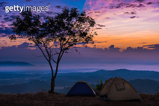 Scenic View Of Landscape Against Sky During Sunset - gettyimageskorea