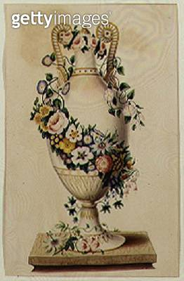<b>Title</b> : A Memorial Neo-Classical Urn (w/c on paper)<br><b>Medium</b> : watercolour on paper<br><b>Location</b> : Private Collection<br> - gettyimageskorea