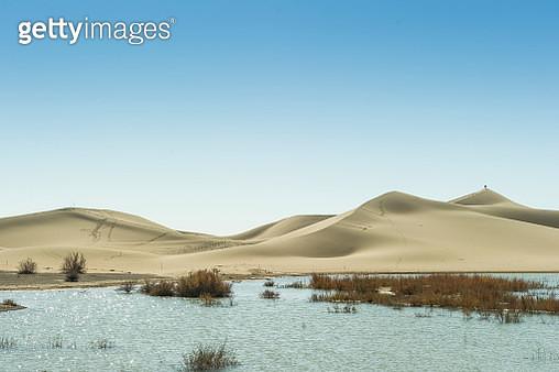 abstract of sand dune in Badain Jaran Desert inner mongolia - gettyimageskorea