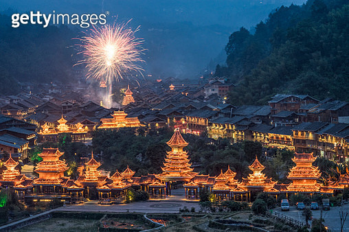Chinese new year celebrations in a rural village - gettyimageskorea