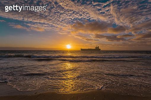 Seascape at sunrise - gettyimageskorea