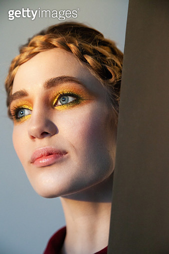 Glamorous woman with bright makeup - gettyimageskorea