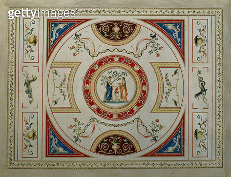 Neo-Classical Design for a Title Page/ 1776 (pen & ink and gouache on paper) - gettyimageskorea