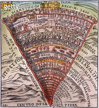 DANTE'S INFERNO, c1520. /nWoodcut from a Venetian edition of the Divine Comedy, c1520. - gettyimageskorea