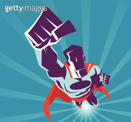 Superhero flying - gettyimageskorea
