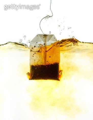 Teabag in hot water - gettyimageskorea