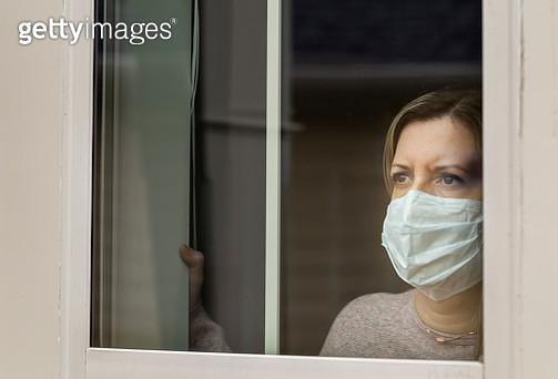 Coronavirus (Covid-19) Patient Self Quarantined at Home Medical Mask - gettyimageskorea