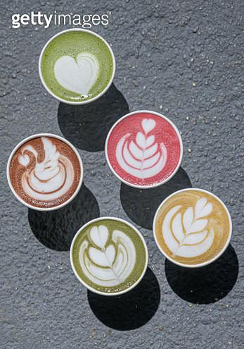 Latte Art - Turmeric, Beetroot, Matcha, Hot Chocolate as alternative to coffees - gettyimageskorea